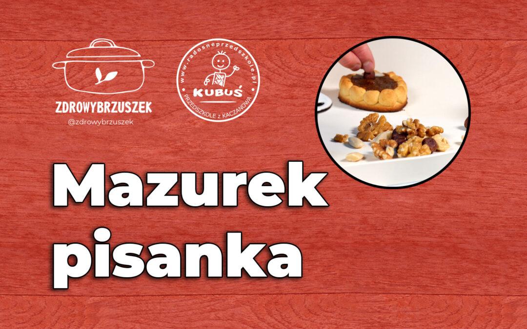 Mazurek – pisanka | @zdrowybrzuszek i radosneprzedszkole.pl