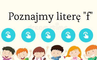 Poniedziałek | Poznajemy literę F | www.radosneprzedszkole.pl