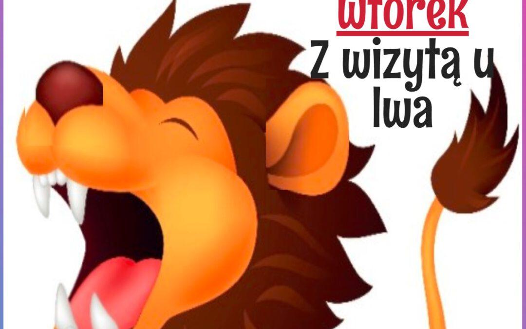 Wtorek | z wizytą u lwa  | www.radosneprzedszkole.pl